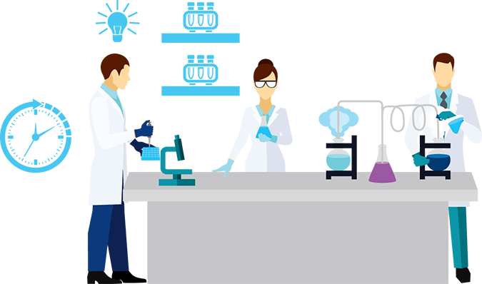 A medical diagnosys lab
