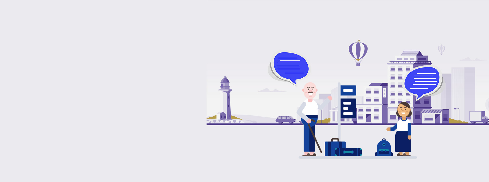 Banner image for hotel chatbot development services