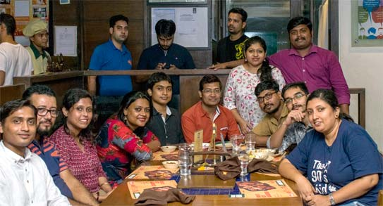 Team NCRTS India enjoying dinner together