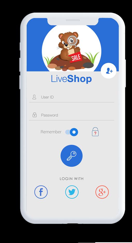 Card image for LiveShop ecommerce app