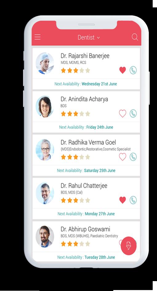 Card image of Suraksha mobile medical application showing doctor profiles