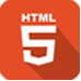 Icon image of HTML 5 technology for web app development